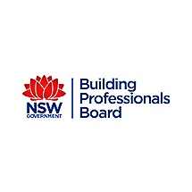 Logo for Building Professionals Board of NSW accreditation